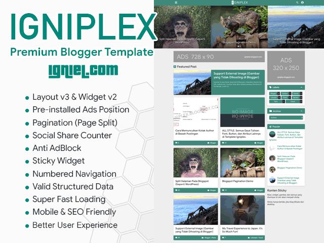 Download Igniplex - Tema Blogspot Premium Super Keren