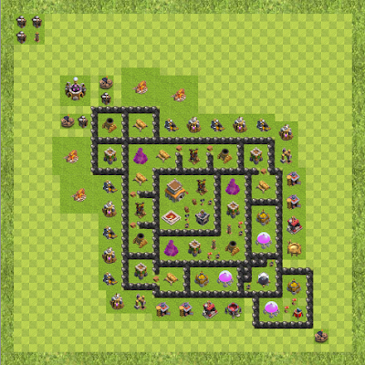 War Base Town Hall Level 8 By OuterSpaceNotPi (Magic TH 8 Layout)