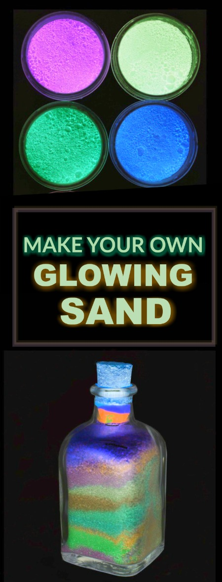 TUTORIAL: MAKE GLOW SAND FOR ARTS, CRAFTS, & PLAY (this is SO COOL!)
