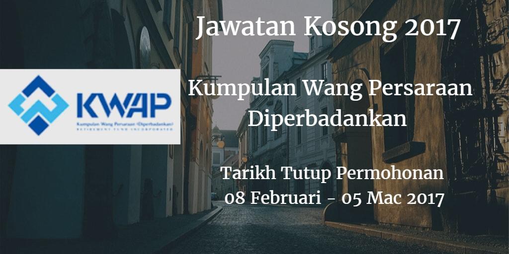 Jawatan Kosong KWAP 08 Februari - 05 Mac 2017