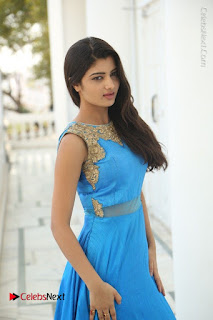 Telugu Actress Akshita (Pallavi Naidu) Latest Stills in Blue Long Dress at Inkenti Nuvve Cheppu Movie Promotions  0048.jpg