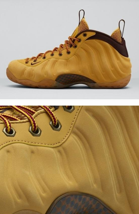 """1dd5803ceaf The Nike Air Foamposite One """"Wheat"""" Sneaker is available Now HERE with more  sizes HERE   HERE"""