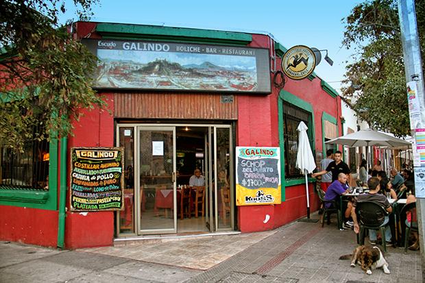 Bar Galindo em Santiago no Chile