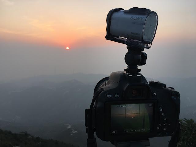 帶上 Action Camera 在青山山頂看日落
