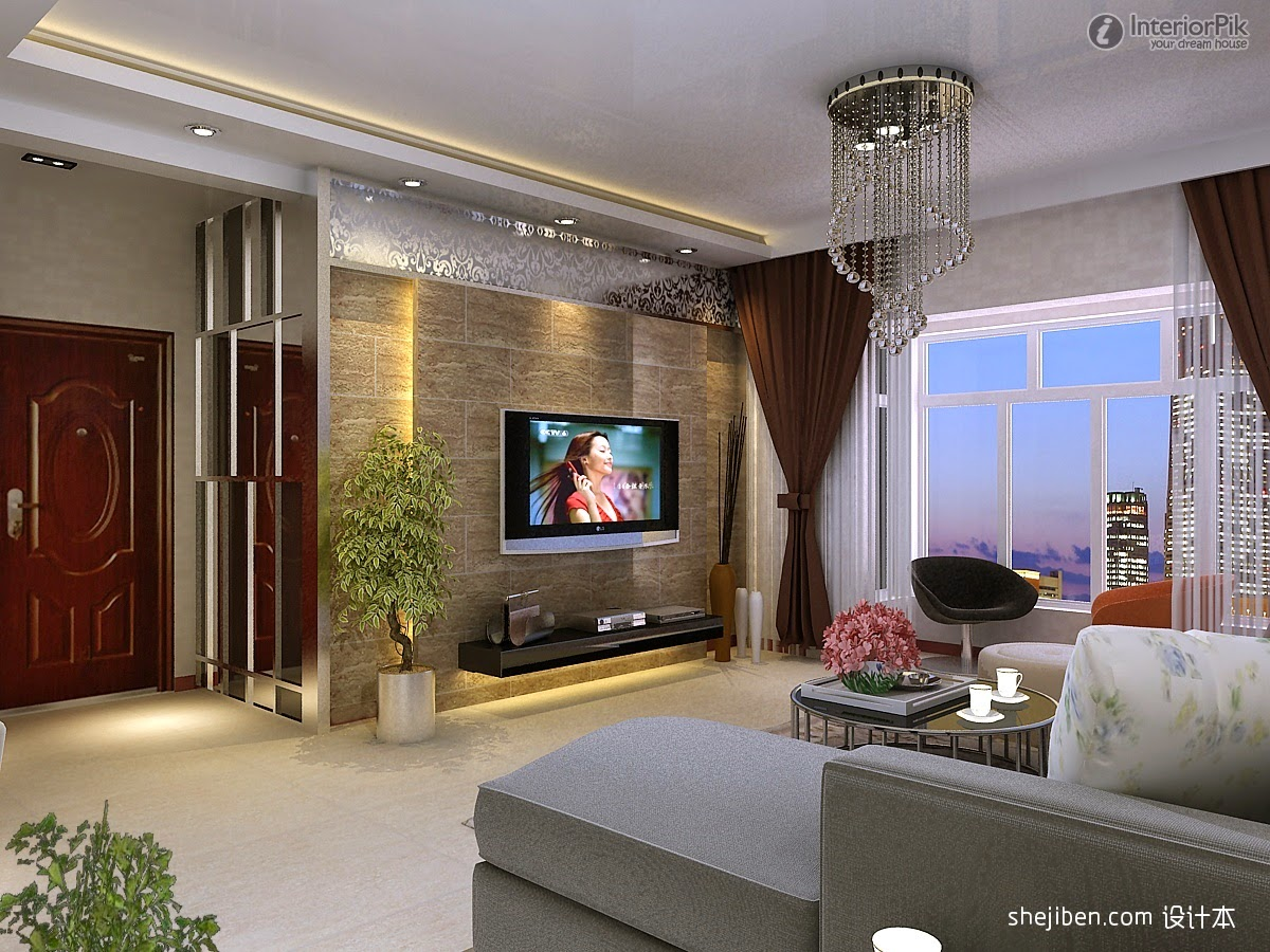 Modern tv walls ideas wikalo my home design and decor - Modern wall decor for living room ...