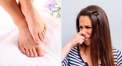 le talc sec pour éliminer la mauvaise odeur des pieds