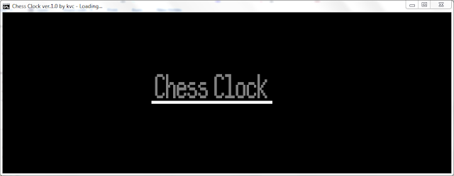 Chess clock by kvc ver.1.0
