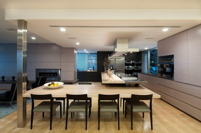 Photo of modern dinning table as part of the kitchen in an amazing home in Sydney, Australia