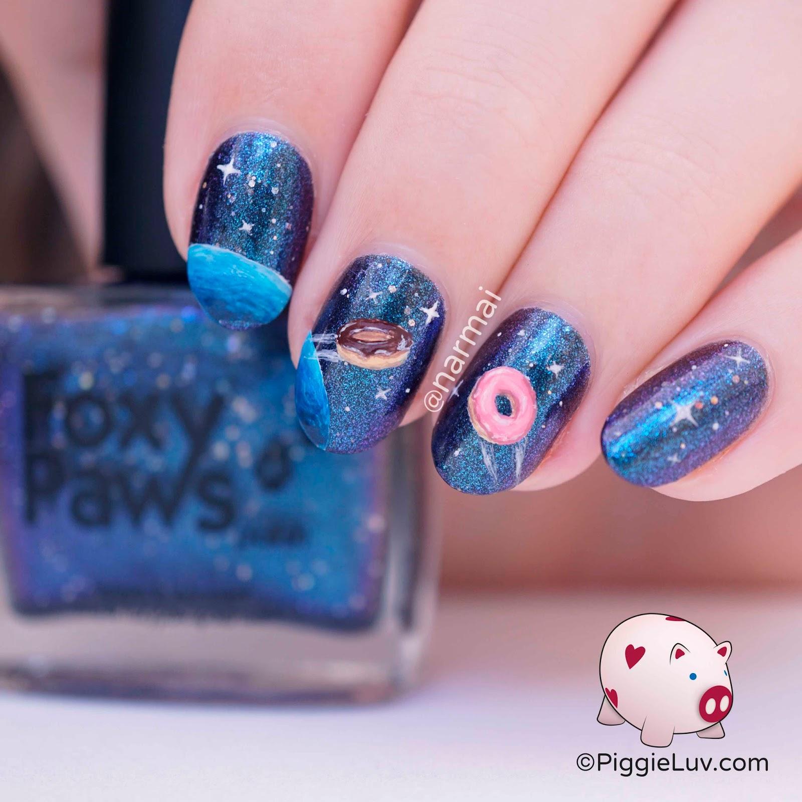 Piggieluv Galaxy Donuts Nail Art