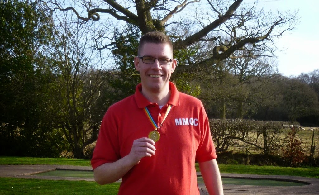 Minigolfer Richard Gottfried with the bronze medal from the 2015 Midlands Open