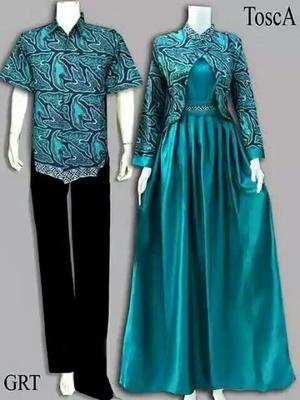 100 Model Gamis Batik Kombinasi Satin Model Baju Gamis