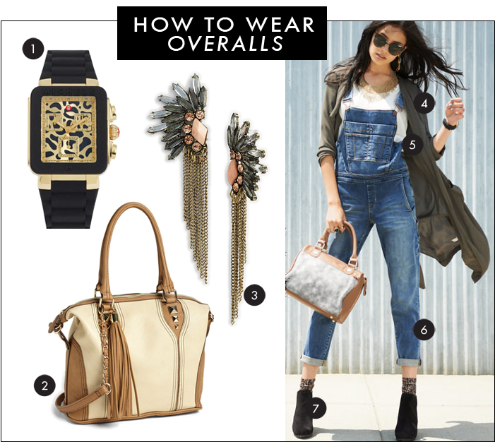 nordstrom, michele, designer watch, overalls, fall look