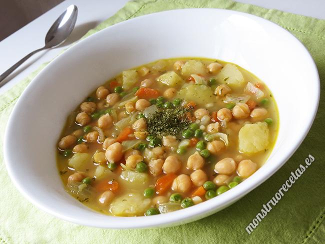 Sopa De Garbanzos Y Otras Verduras