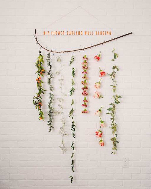 Diy guirnalda floral de pared