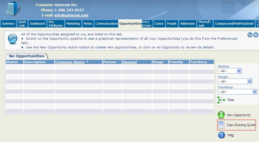 Copying Opportunity And Quotes Sage Crm Tips Tricks And Components