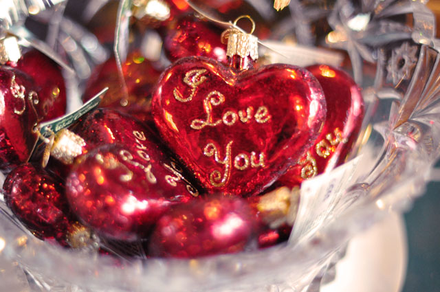 i love you heart ornaments
