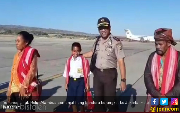 Anak Pemanjat Tiang Bendera ke Jakarta Temui Jokowi
