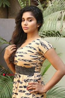 Telugu Actress Karunya Chowdary Stills in Short Dress at ATM Not Working Press Meet  0088.jpg