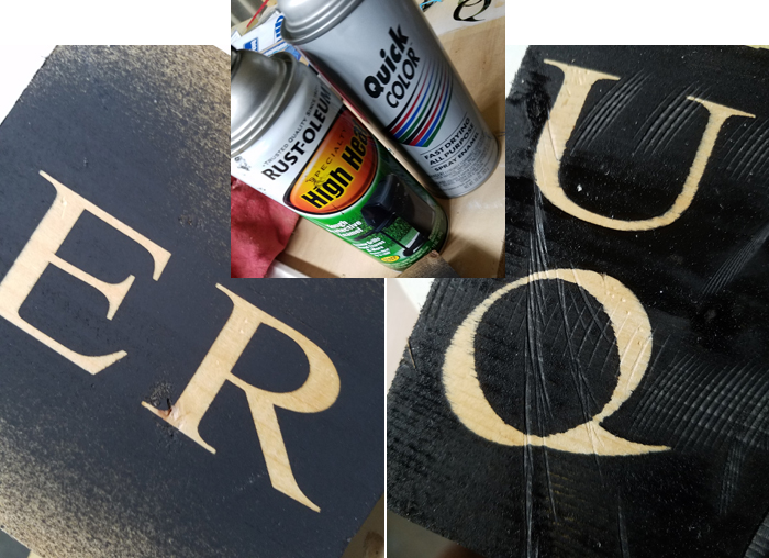how to paint signs without much seepage.