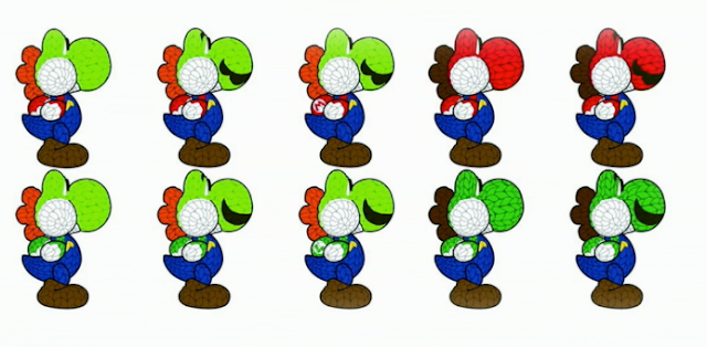 Yoshi's Woolly World Mario Luigi amiibo design documents