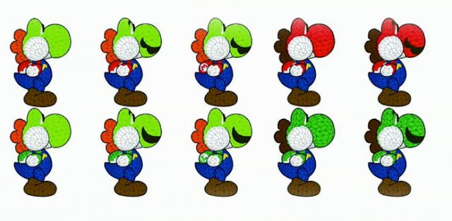 Yoshi's Woolly World Mario Luigi amiibo design documents