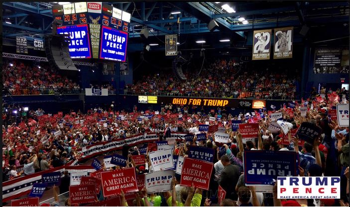 Impeach mcconnell boehner and cantor today capacity crowd of 5000 capacity crowd of 5000 rallies for trump in akron ohio august 22 2016 toledo blade publicscrutiny Image collections