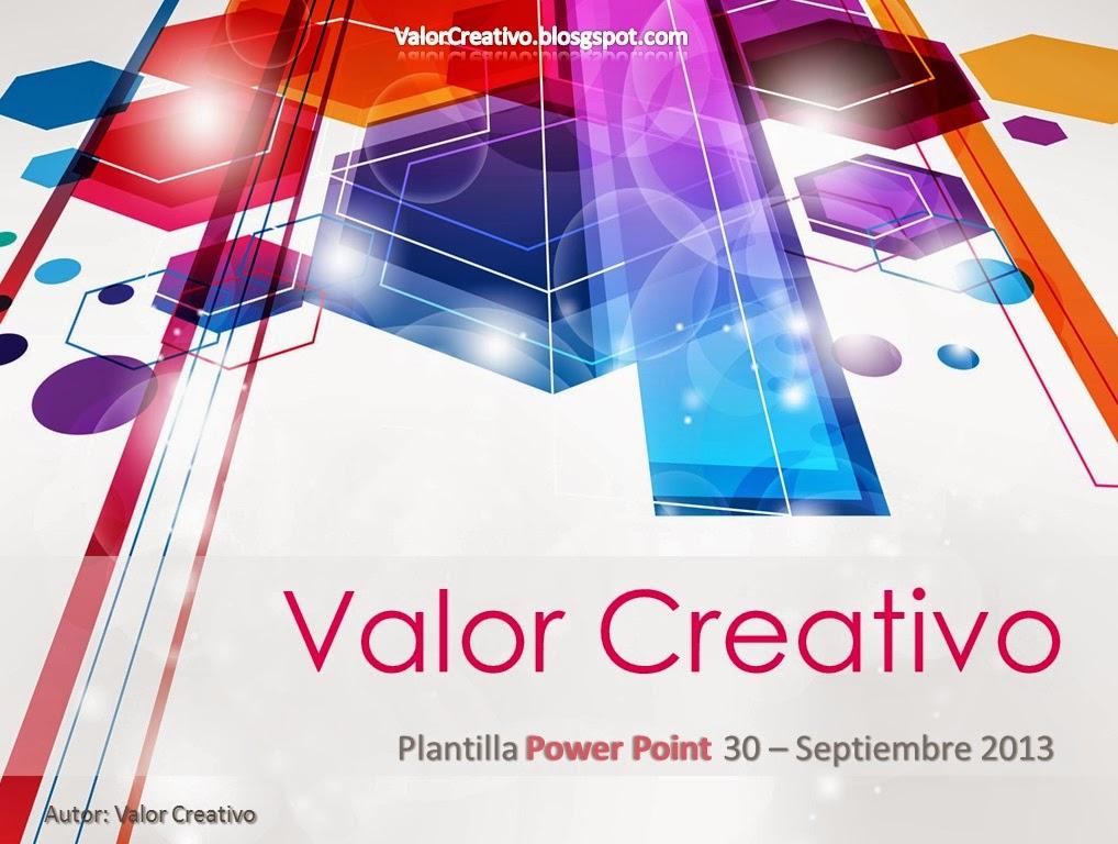 Valor Creativo Plantilla Power Point - Septiembre 2013 - plantillas para power points