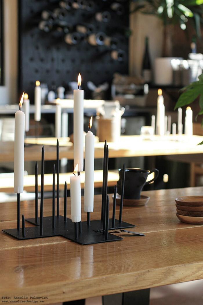 annelies design, ljusstake, inredning, webshop, webbutik, webbutiker, dekoration, ljusstakar, candle cross, svart, svarta,