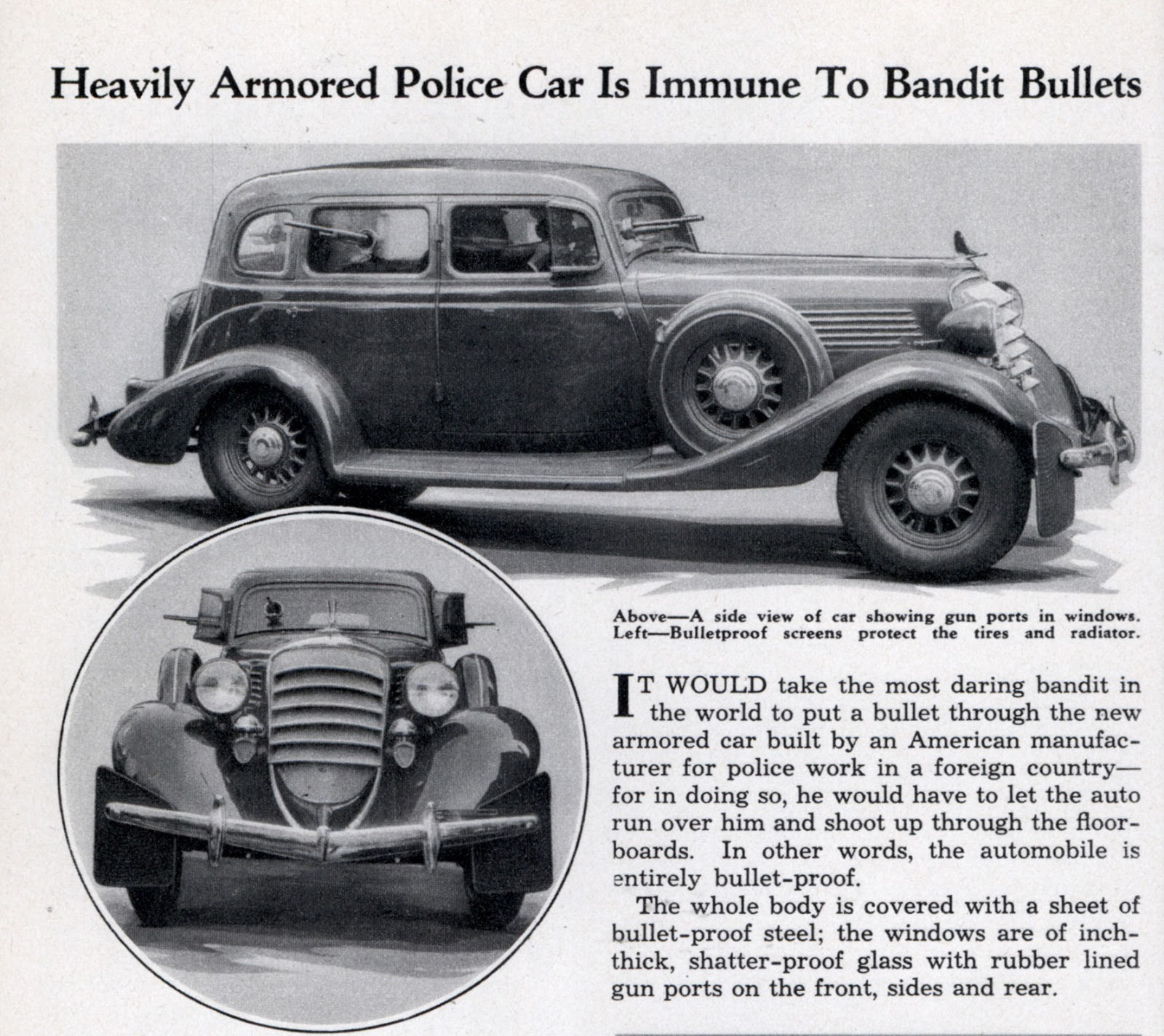 Just A Car Guy: Lexington Kentucky Police In 1934 Believed