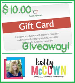 Kelly McCown: Teachers Pay Teachers Gift Card Giveaway