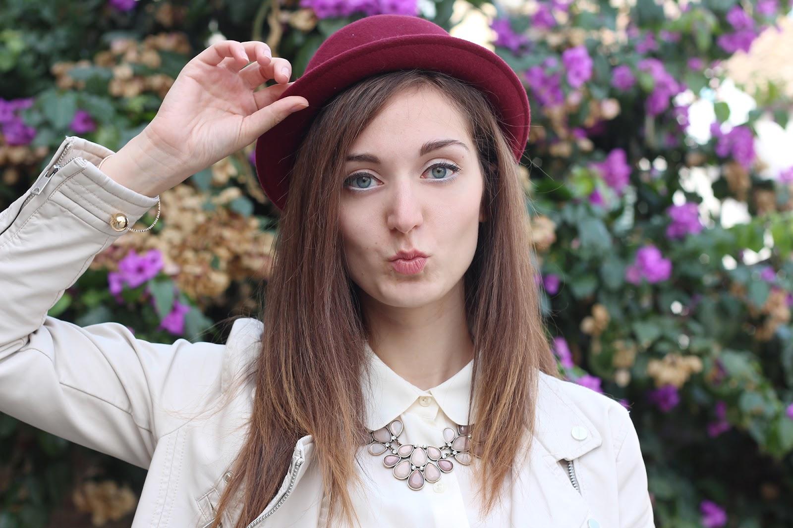 fashion blogger girl italian hat h&m necklace collana bijou brigitte bracelet gold