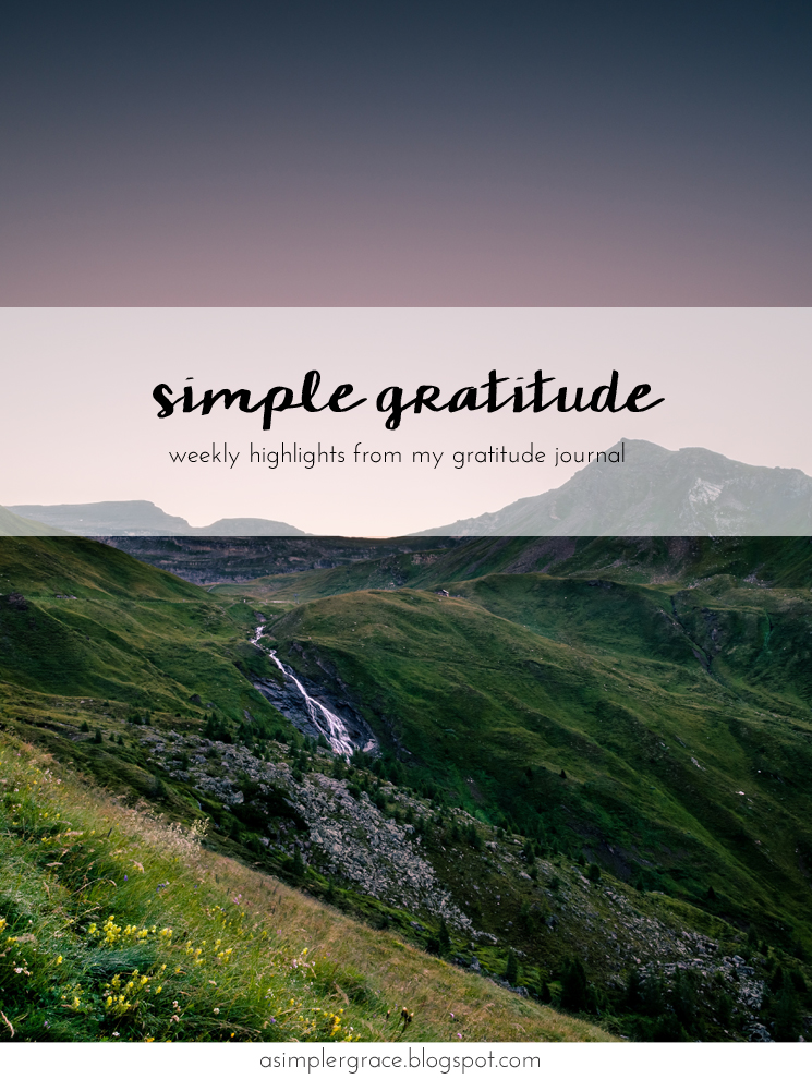 I'm sharing my #gratefulheart on the blog today! Simple Gratitude | 64 - A Simpler Grace #gratitude