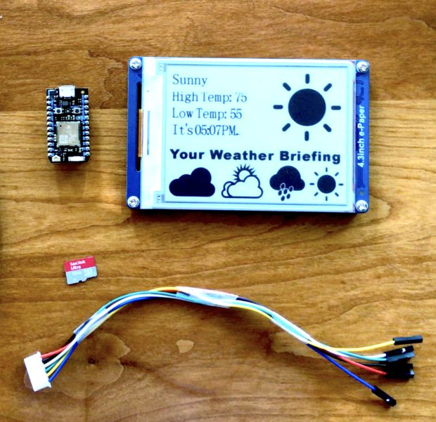 E-Paper Weather Display With Photon and IFTTT | DFRobot