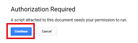 Authorization Required Form