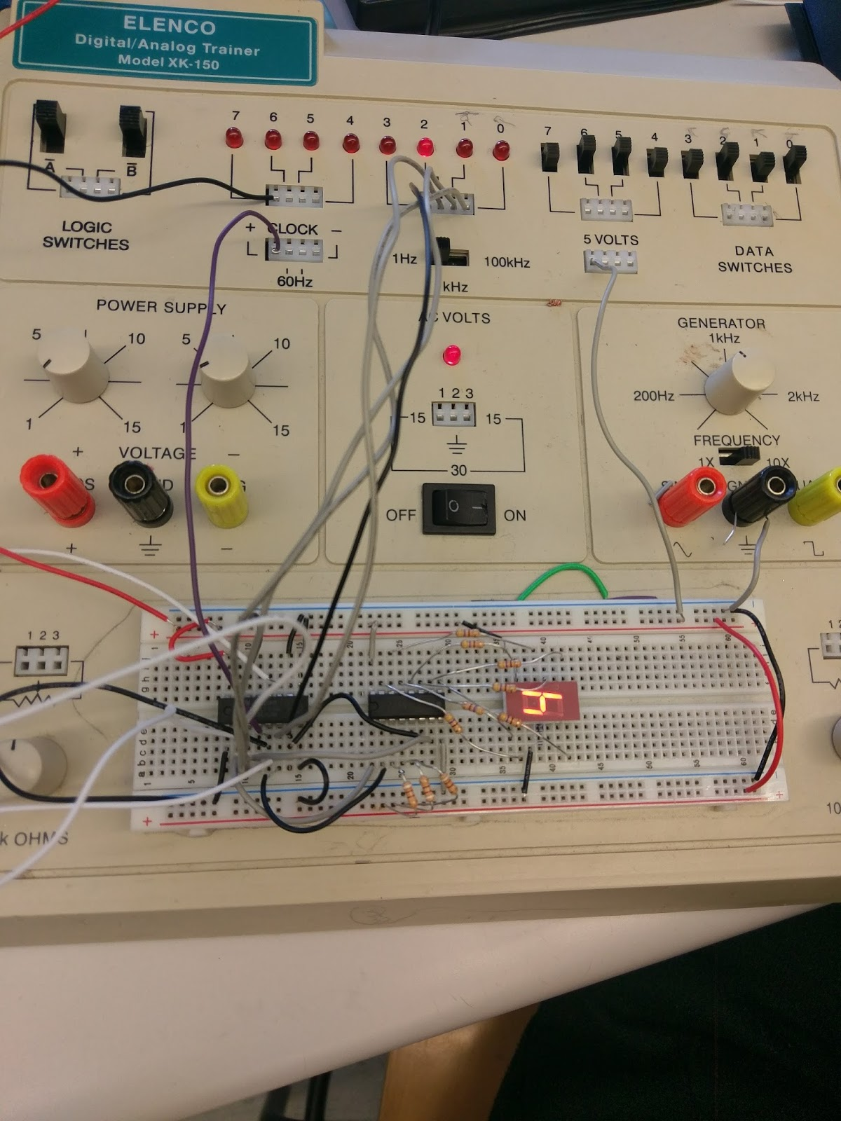 N1ir Electronics Website Project 12 21 17 Digital Dice Electronic Circuit Breadboard And Testing