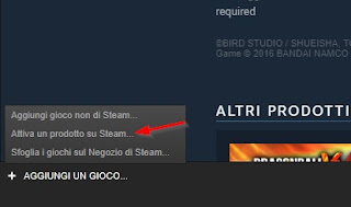 Attiva gioco key steam