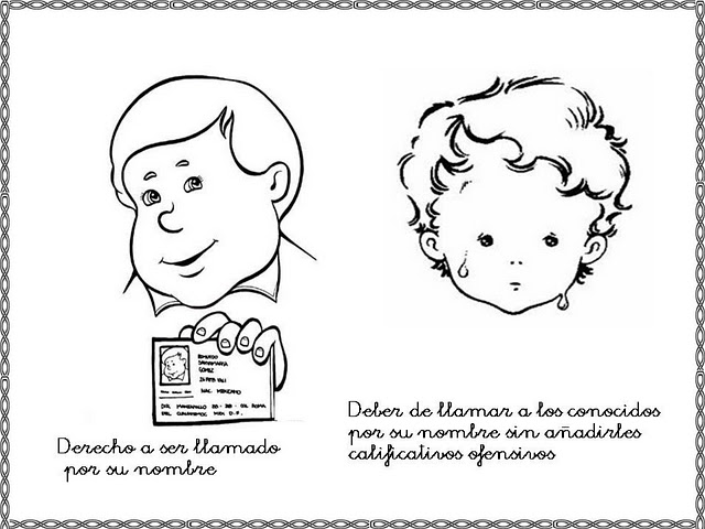 Los Derechos Humanos En Fichas Para Niños