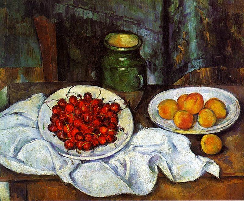 Cireres i préssecs (Paul Cézanne)