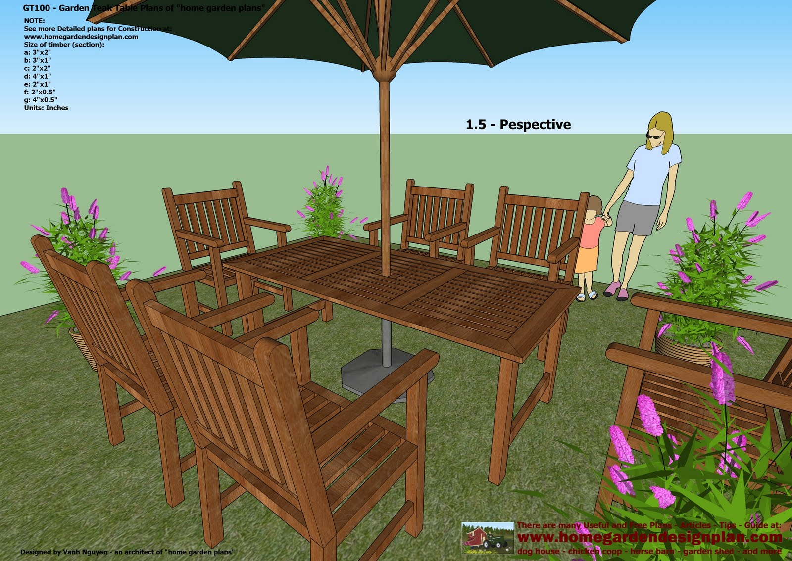 Plans for garden table and chairs. double chair bench plans free ...
