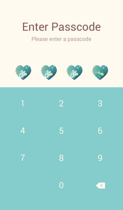 Goldfish Sheepskin Blue Green Heart