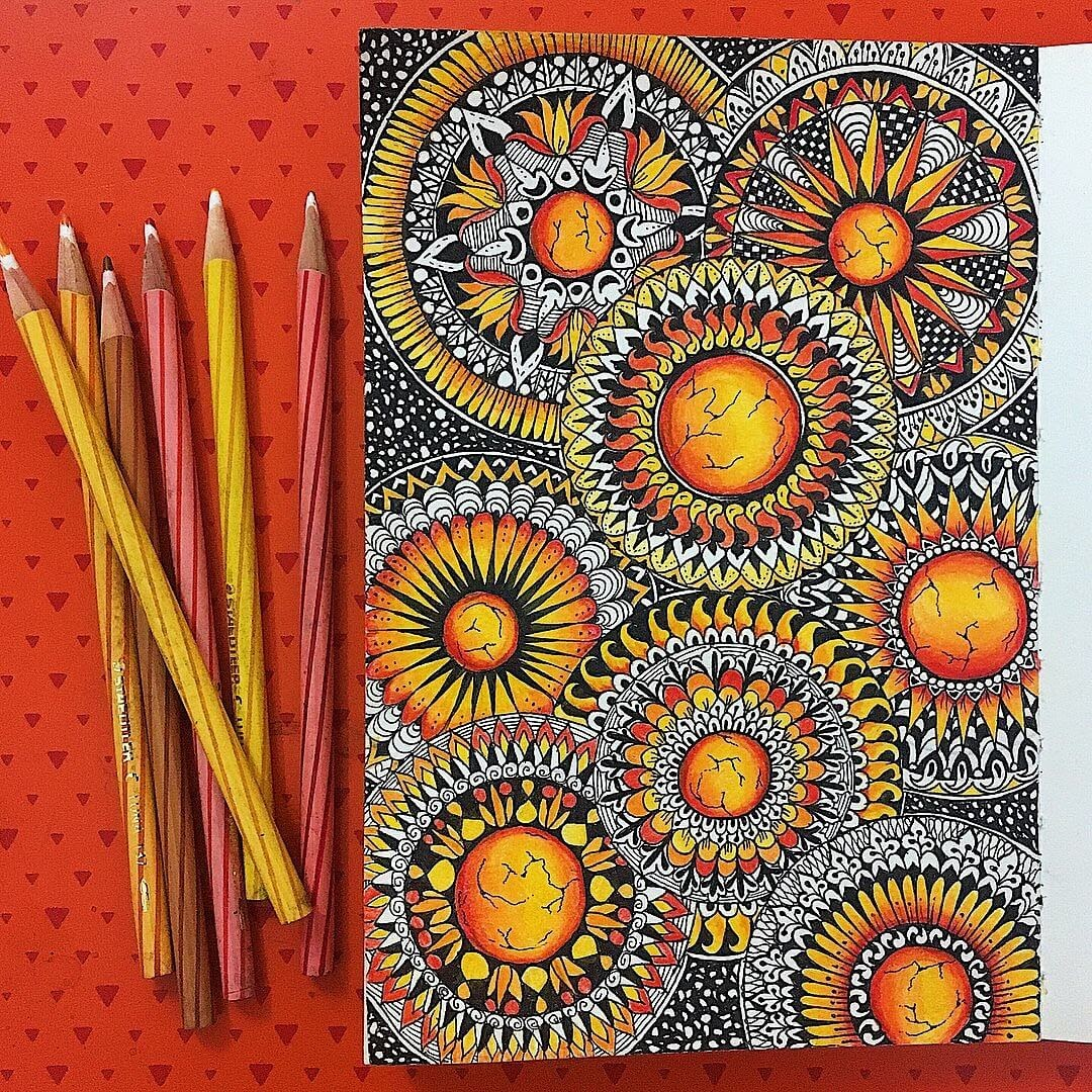 05-Red-like-the-Sun-Aiman-Arastu-Mandalas-Drawings-and-More-Art-www-designstack-co