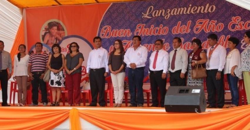 Viceministra de Gestión Pedagógica participó del Lanzamiento del Año Escolar 2017 en la DRE San Martín