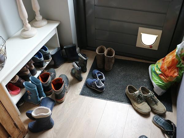 Loze ruimte wordt schoenenkast