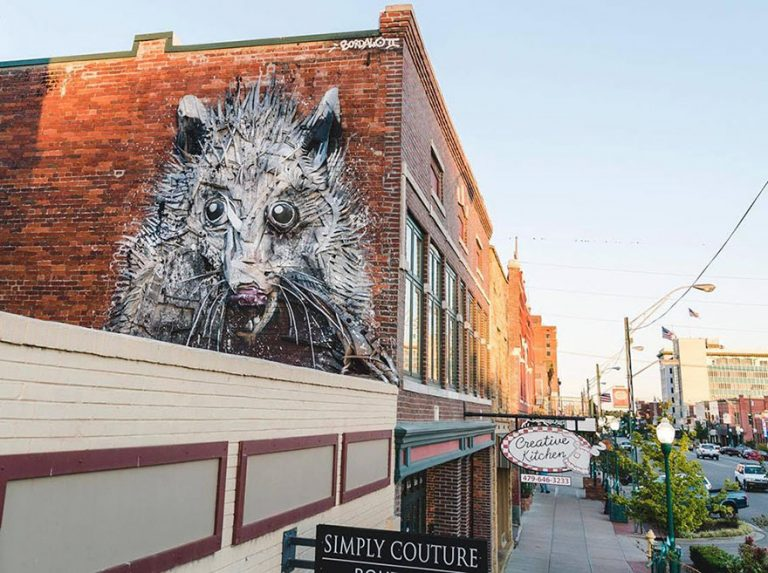 Street Artist Transforms Ordinary Junk Into Animals To Remind About Pollution - Opossum