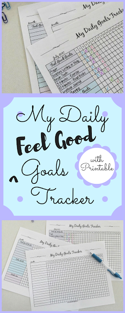 My Daily Feel Good Goals Tracker - Authentic in My Skin - authenticinmyskin.com
