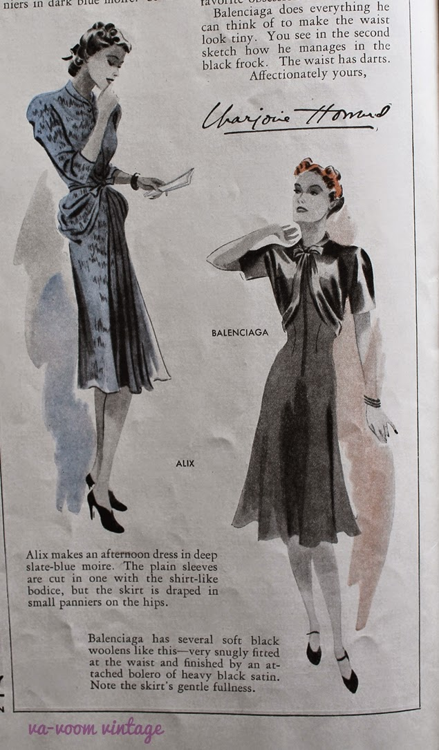 september 1939 vintage womans home companion fashion and advertising from va- voom vintage