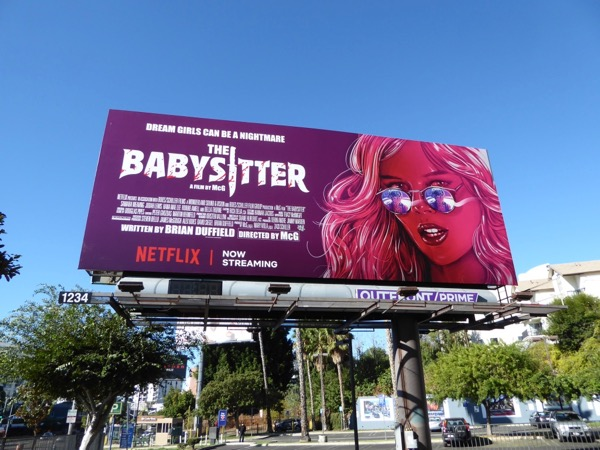 Babysitter movie billboard
