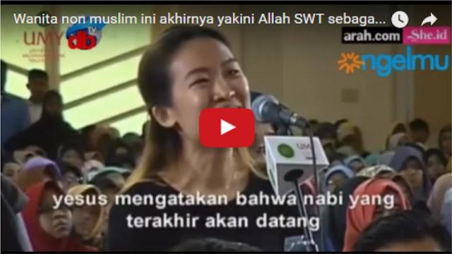 Detik-detik Masuk Islam nya Wanita Non Muslim Di Acara Zakir Naik Kemarin