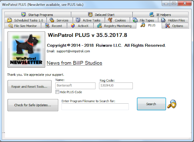 Screenshot WinPatrol PLUS 35.5.2017.8 Full Version
