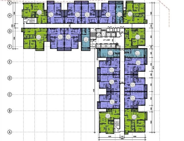 mặt bằng dự án the two residence